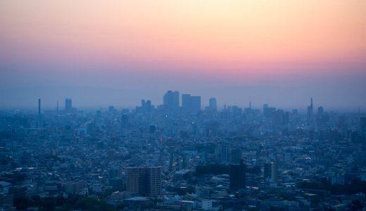 東山スカイタワーの夜景。美しい夕陽とセットで見に行こう!