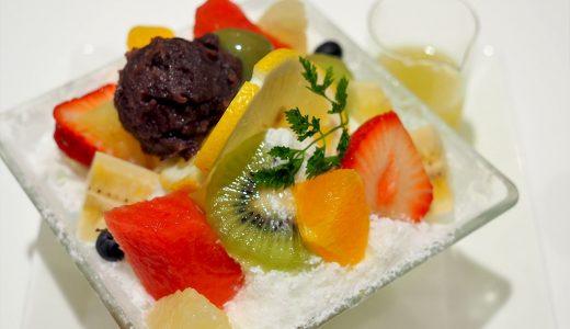 タカノフルーツパーラーのパフェとかき氷。果物好きにはたまらない内容!