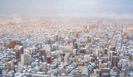 名古屋の雪景色 2018年12月29日