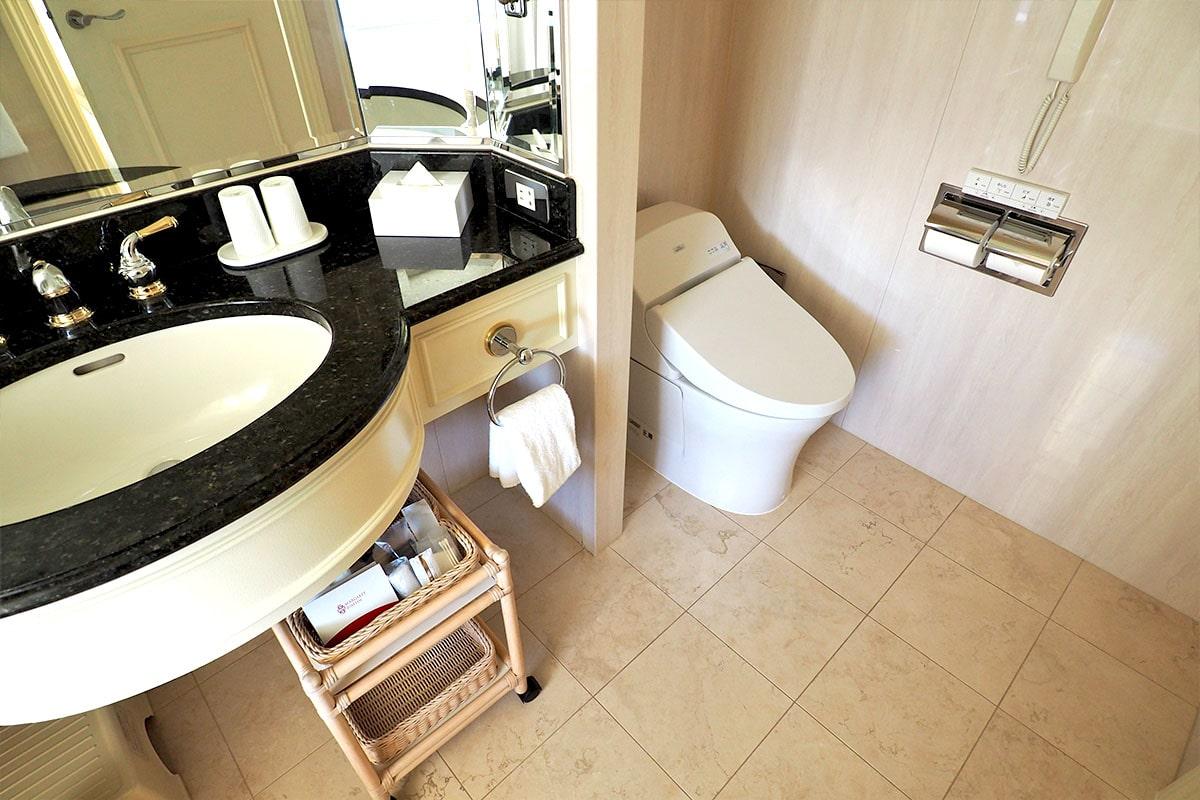 名古屋マリオットアソシアホテル 客室のトイレ