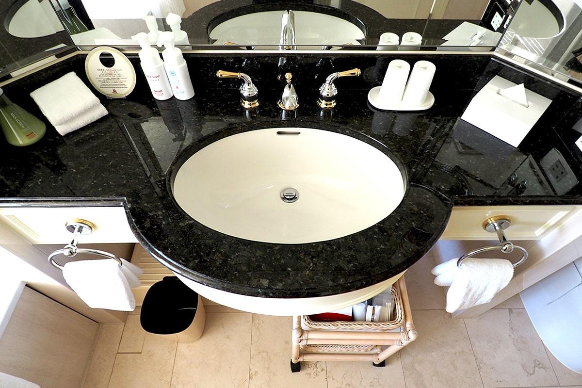 名古屋マリオットアソシアホテル 客室の洗面台