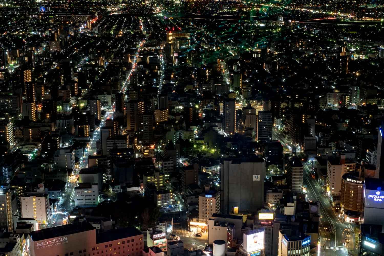 名古屋マリオットアソシアホテルから名古屋駅西に広がる夜景