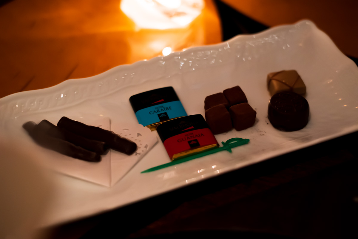 チョコレートの盛り合わせ