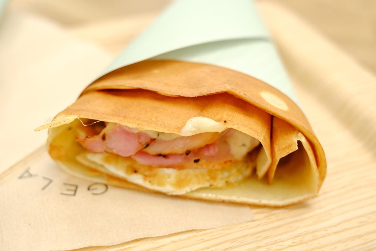 ジェラピケカフェの食事系クレープ