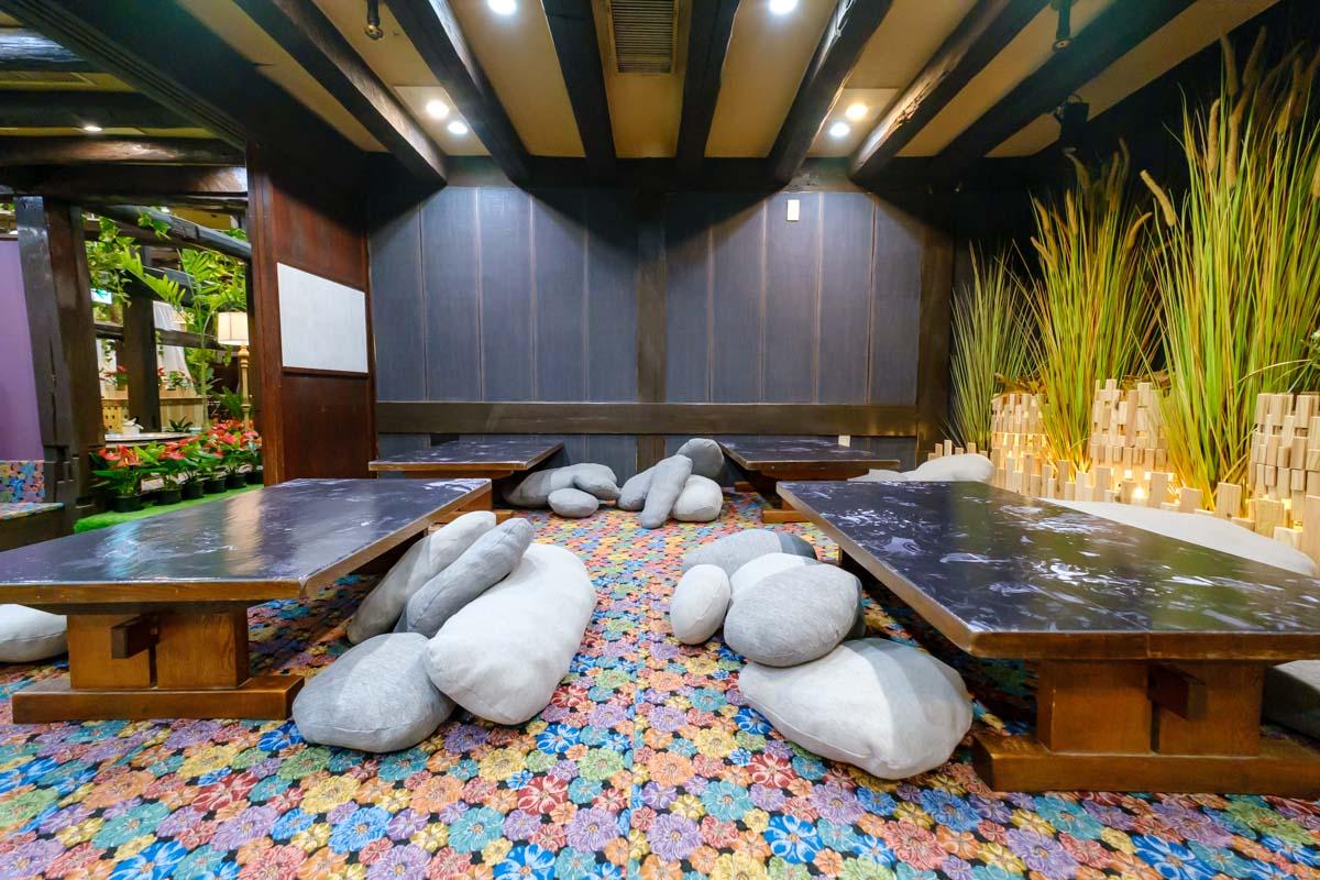 ウッドデザインパークの座敷席