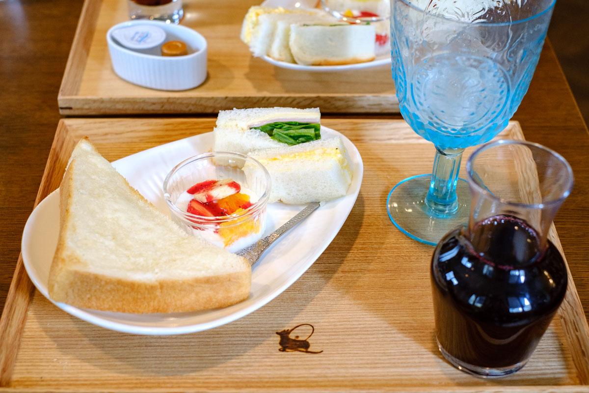 カフェ ド リオン ブルーのモーニング