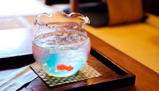 犬山「本町茶寮」の金魚ゼリーソーダとかき氷