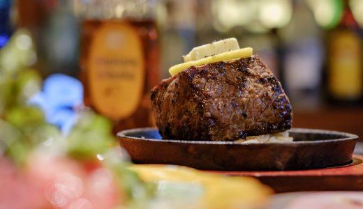 栄「肉バルcomplete」でいただく知多牛のステーキ